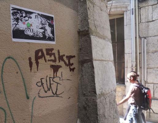 """Monsters Love you !"" Grafitti aus Paris"